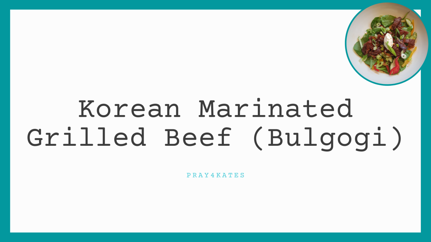korean marinated grilled beef bulgogi recipe
